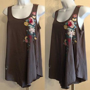 Johnny Was Long tunic top embroidered S Flaw